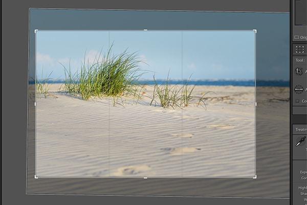 lightroom cropping frame screenshot