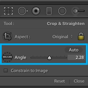 lightroom straighten module